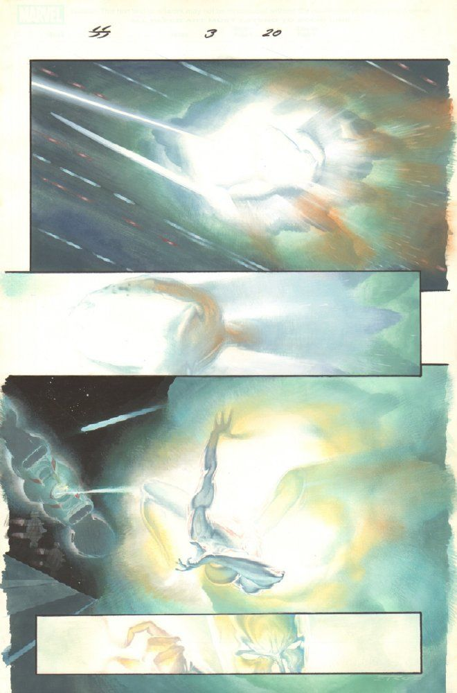 Silver Surfer: Requiem #3 p.20 - Surfer Shot - 2007 Signed art by Esad Ribic Image