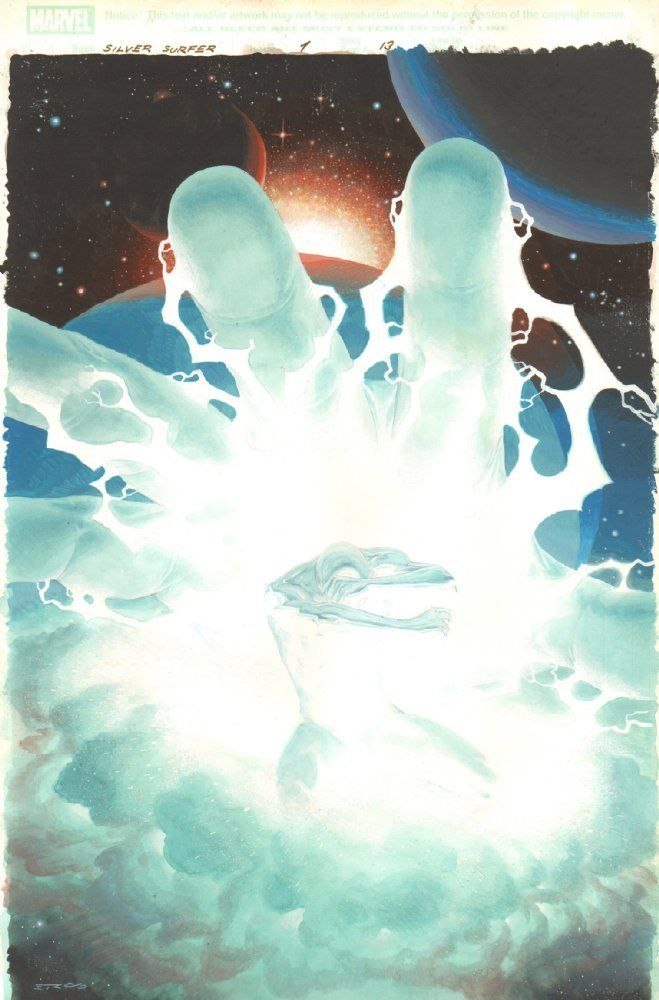 Silver Surfer: Requiem #1 p.13 - John Buscema Homage Splash - 2007 by Esad Ribic